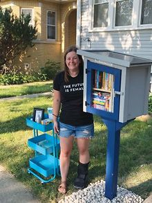 Ally-opens-Diverse-Little-Free-Library-in-Norridge