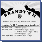 Brandy's II (Closed Down) 1126 Main St Green Bay WI 54301