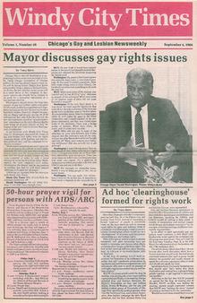 A look back: Mayor Harold Washington discusses gay rights