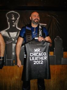 Angel Velez Named Mr Chicago Leather 2012