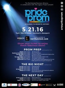 Pride Prom in Boystown, Saturday, May 21