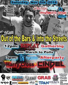 'Out of the Bars' voting effort, Sat., Nov. 5