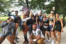 PRIDE '17 Unofficial Pride gathering at Montrose Harbor