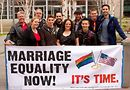 Activists at Seattle DOMA event. Photo by Steph Brusig