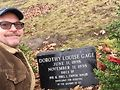Owen Keehnen with the grave for Dorothy Gage, inspiration for Dorothy in The Wizard of Oz.