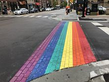 Chicagos-Boystown-sports-rainbow-crosswalks