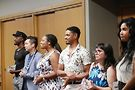 Left to right Esteem Awards recipients Sampson McCormick, Archy Jamjun (OUTspoken!), Imani Rupert-Gordon, Perre Shelton, Karen Cross Durham (Gene Siskel Film Center) and Channyn Lynne Parker.Photo by Joshua Irvine