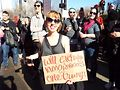 Women's March attendee in 2017. WCT photo