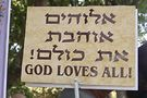 Sign at Tel Aviv Pride. Photo by Ross Forman
