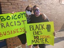 Activists-protest-Spyners-Pub-over-owners-racist-post-past-comments