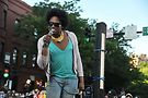 Dida Ritz at the Drag March for Change. Photos by Vern Hester