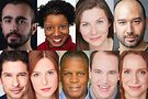 The cast of Interrobang Theatre Project's The Spin includes (top, l tor) Salar Ardebili, Elana Elyce, Sarah Gise and Matthew Martinez Hannon (bottom, l to r), Tom Dacey Carr, Elise Marie Davis, Darren Jones, Scott Sawa and Laura Berner Taylor.