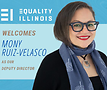 Mony Ruiz-Velasco. Banner courtesy of Equality Illinois