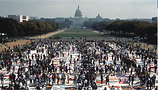 Historical photo of The AIDS Memorial Quilt. Photo courtesy of the National AIDS Memorial