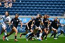 Chicago Red Stars (dark uniforms) in action. Photo courtesy of ISI