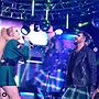 Kim Petras and Adam Lambert. Photo from Pride Live's Instagram account