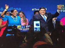 Gov-JB-Pritzker-Lt-Gov-Juliana-Stratton-announce-re-election-campaign